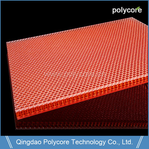 light weight stiffness strength UV-resistant waterproof PC honeycomb sandwich panel launch