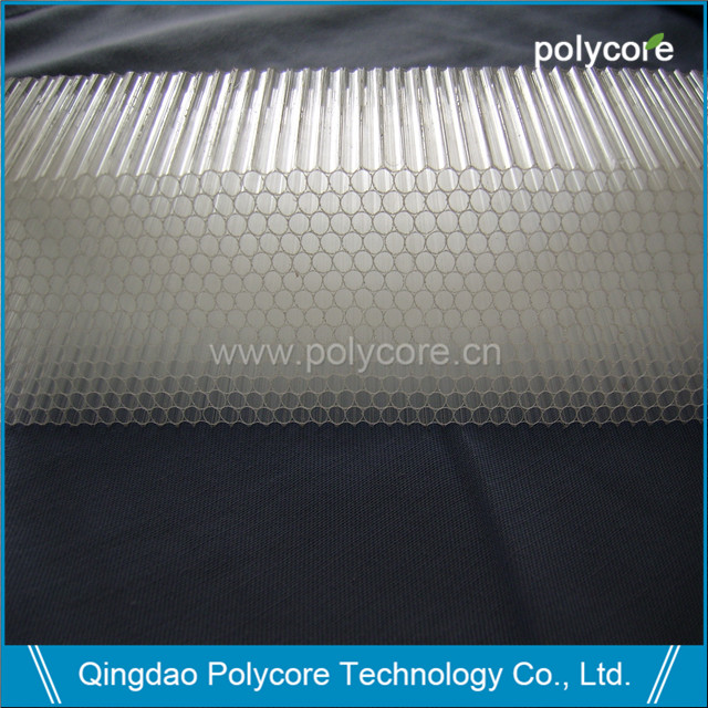 PC honeycomb air flow straightener for commercial refrigeration display showcase